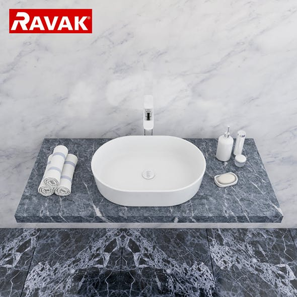 washbasin Ravak Moon 2