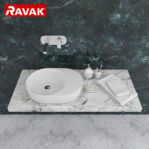 washbasin Ravak Moon 2S - 3DOcean Item for Sale