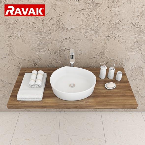 washbasin Ravak Moon 3 - 3DOcean Item for Sale