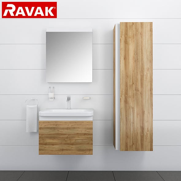 Bathroom furniture RAVAK 10 - 3DOcean Item for Sale