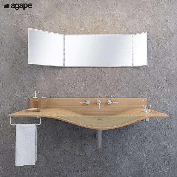 washbasin Agape Gabbiano - 3DOcean Item for Sale