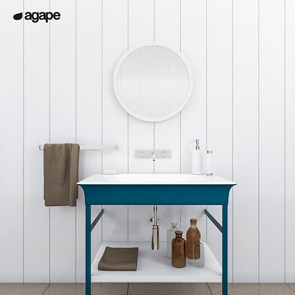 washbasin Agape Novecento XL - 3DOcean Item for Sale