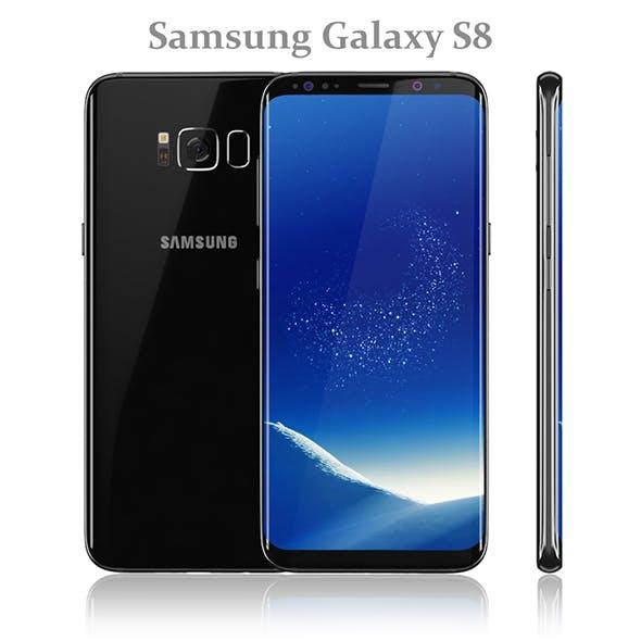 Samsung Galaxy S8 Black model - 3DOcean Item for Sale