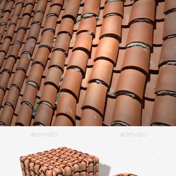 Messy Terracotta Roof Tiles Seamless 2