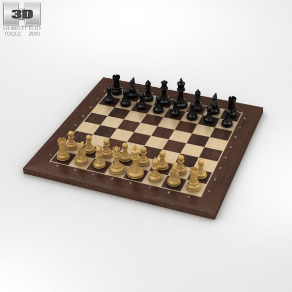 Classic Chess Set - 3DOcean Item for Sale