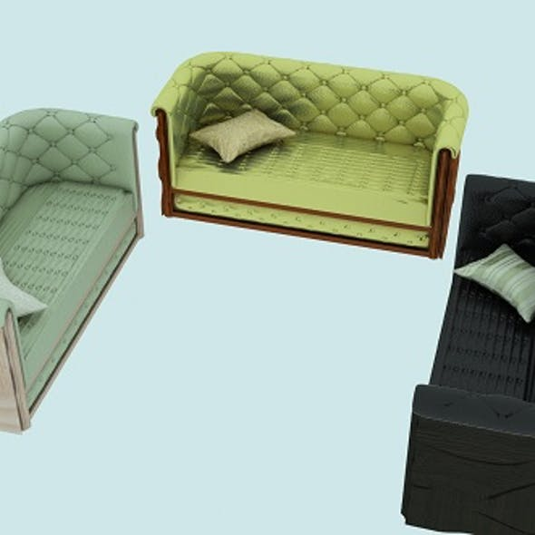 Modern leather sofa in 3 colors