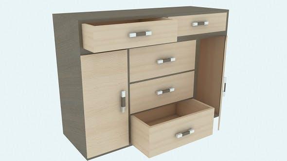 Modern wooden chest of drawers Vega - 3DOcean Item for Sale
