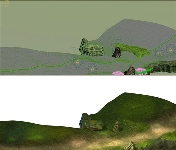Game Model - Forest - Mountain Road 01 - 3DOcean Item for Sale