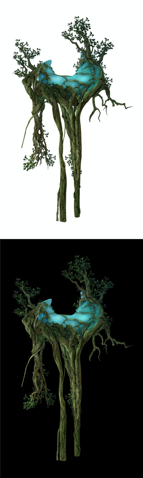 Game Model - Forest - Tree 06 - 3DOcean Item for Sale