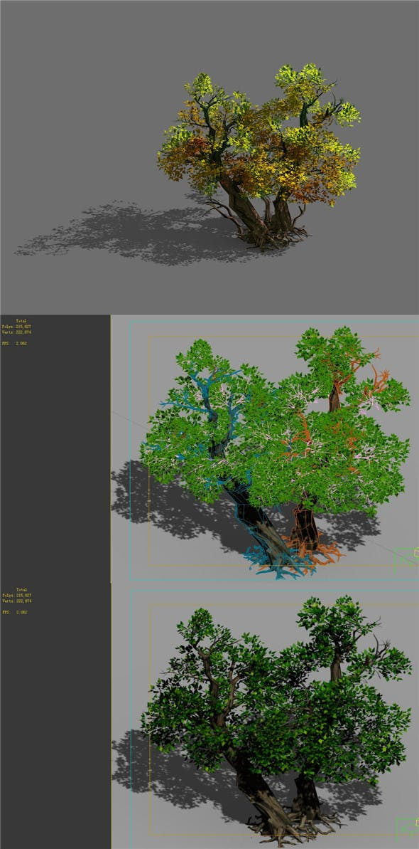 Game Model - Forest - Tree 21 - 3DOcean Item for Sale