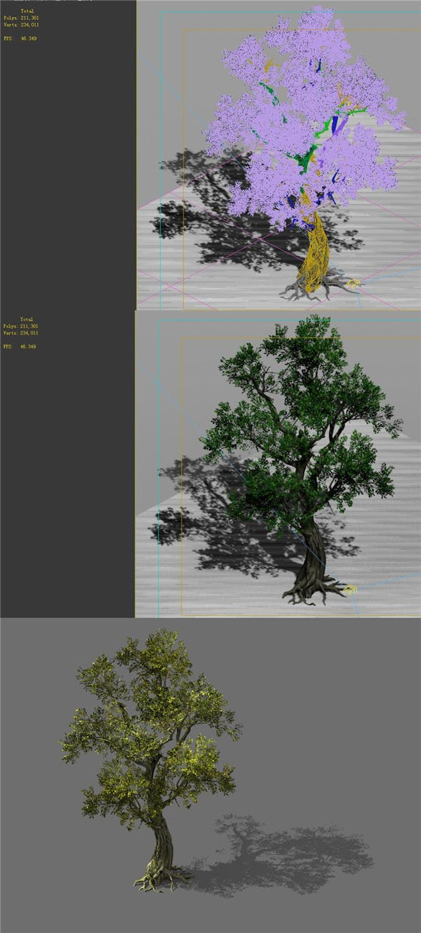 Game Model - Forest - Tree 01 - 3DOcean Item for Sale