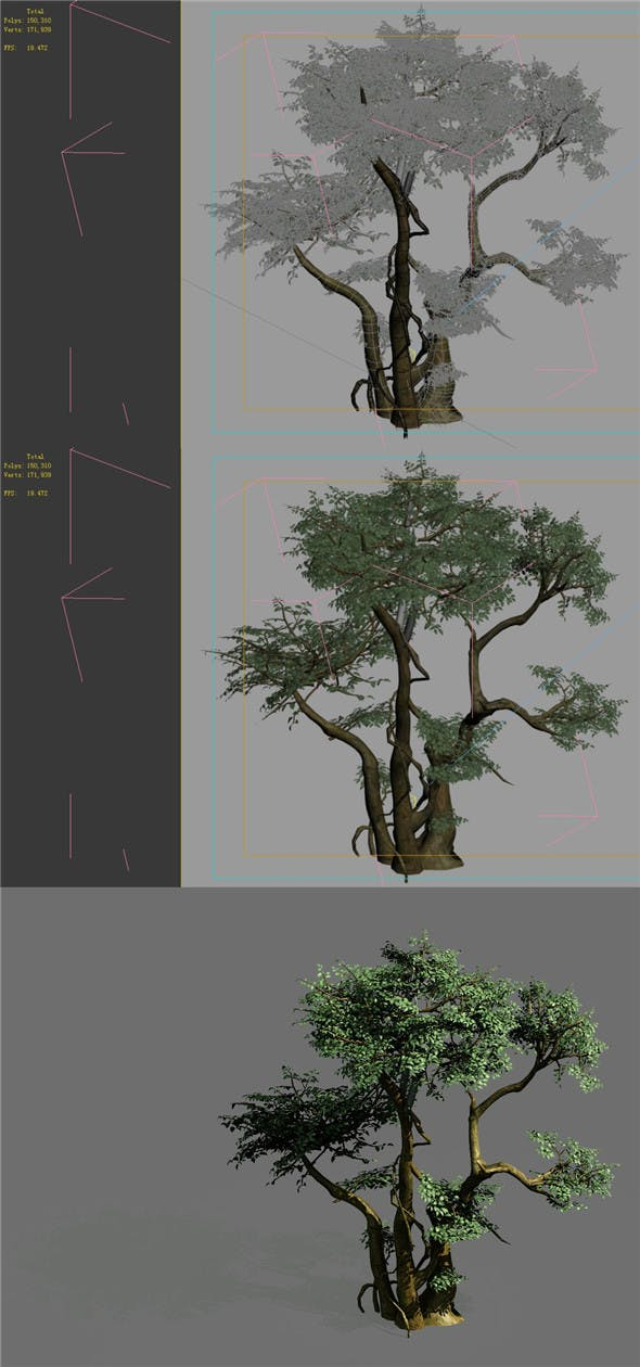 Game Models - Forest - Trees 07 - 3DOcean Item for Sale