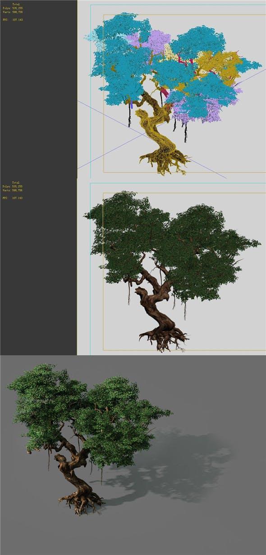 Game Models - Forest - Trees 09 - 3DOcean Item for Sale