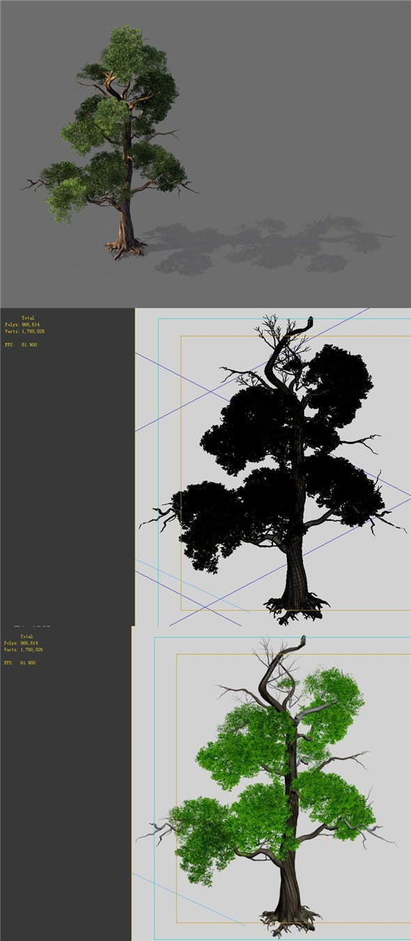 Game Model - Forest - Tree 11 - 3DOcean Item for Sale