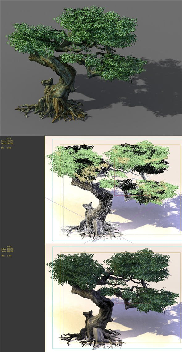 Game Model - Forest - Trees 12 - 3DOcean Item for Sale