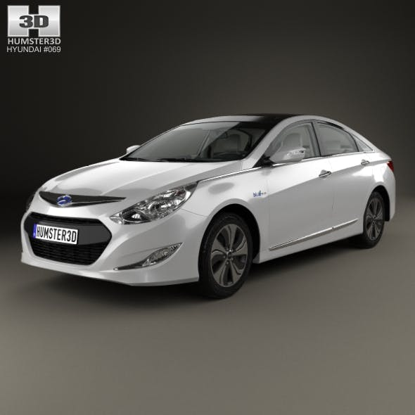 Hyundai Sonata (YF) hybrid with HQ interior 2015 - 3DOcean Item for Sale