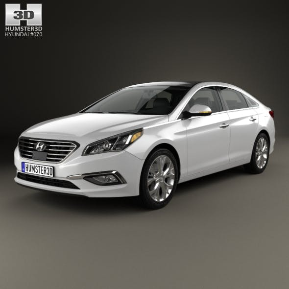 Hyundai Sonata (LF) with HQ interior 2014 - 3DOcean Item for Sale