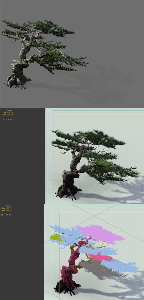Game Model - Forest - Pine Tree 01 - Tree - Stone - 3DOcean Item for Sale