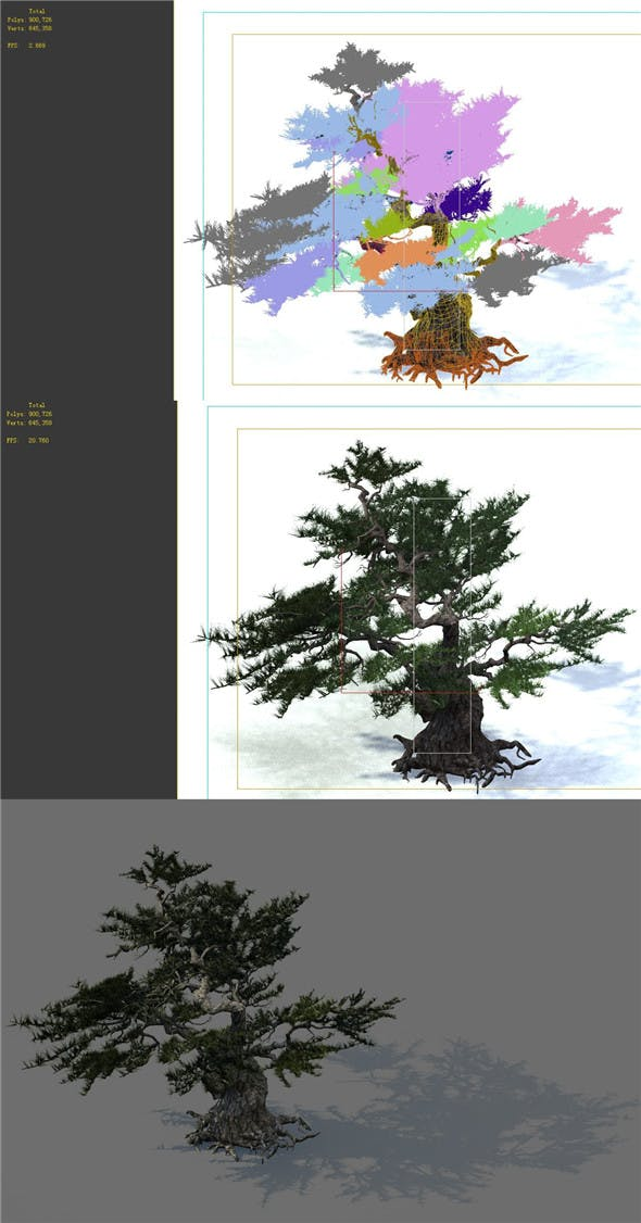 Game Model - Forest - Pines 02e - 3DOcean Item for Sale