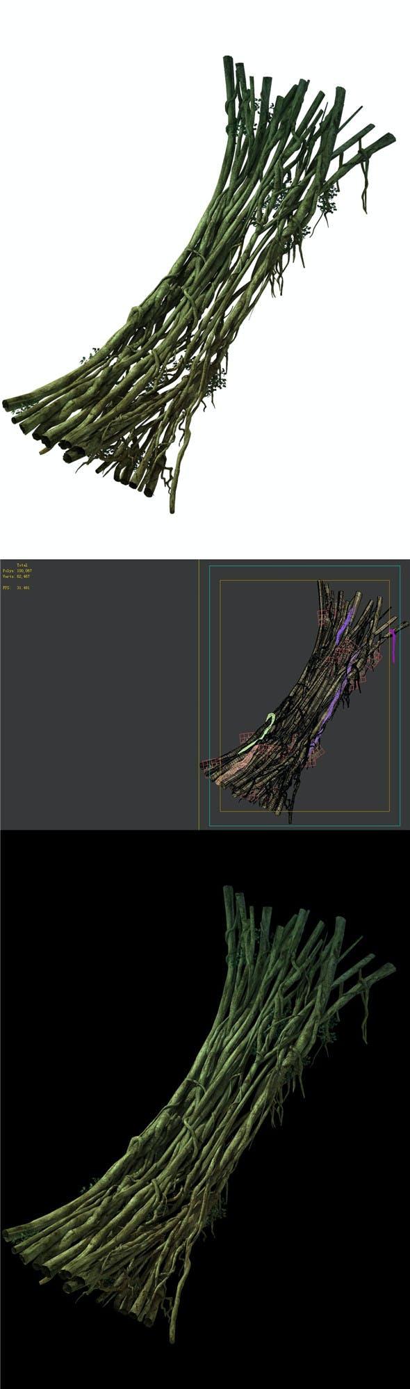 Game Model - Forest - Teng Bridge 05 - 3DOcean Item for Sale