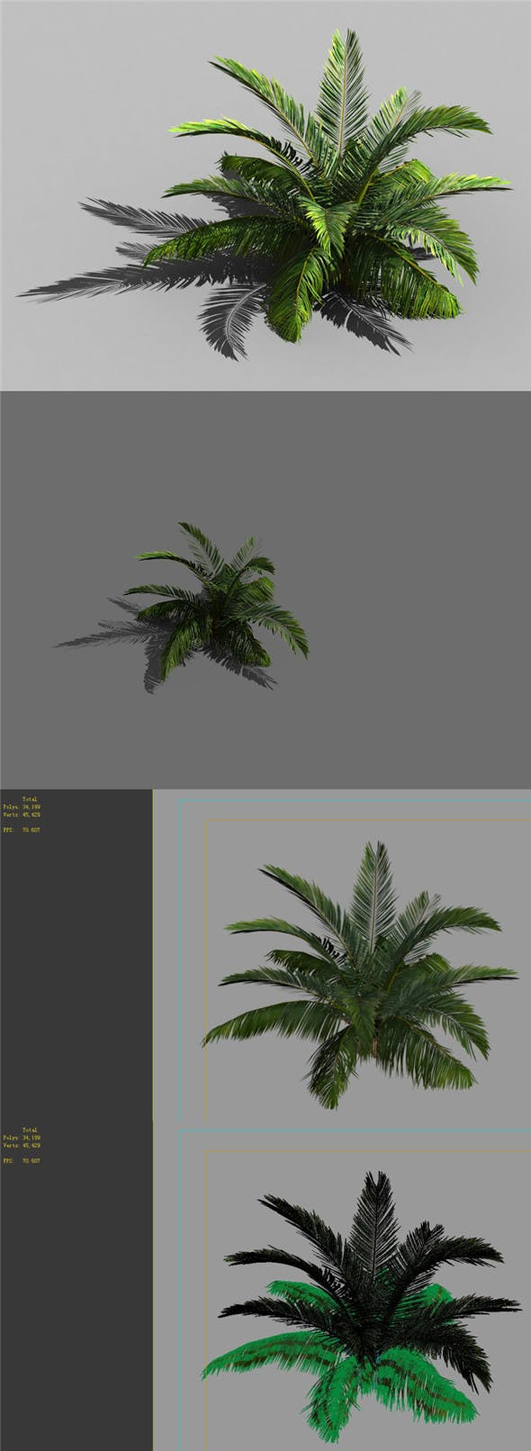 Game Model - Forest - Coconut Tree 01 - 3DOcean Item for Sale