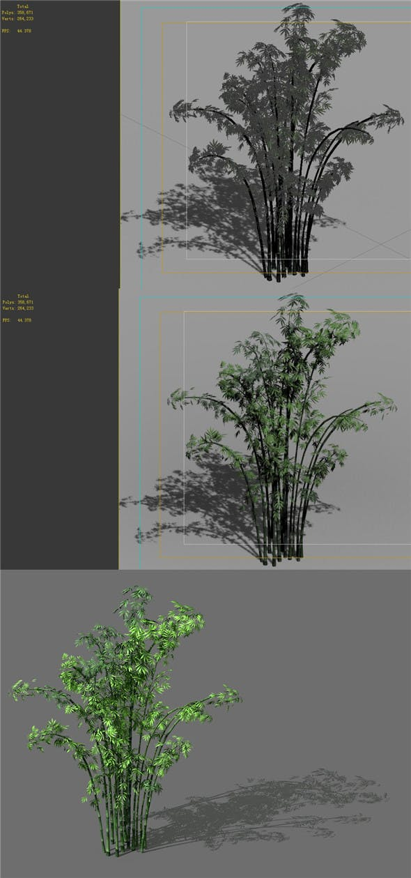 Game Model - Forest - Bamboo - 3DOcean Item for Sale