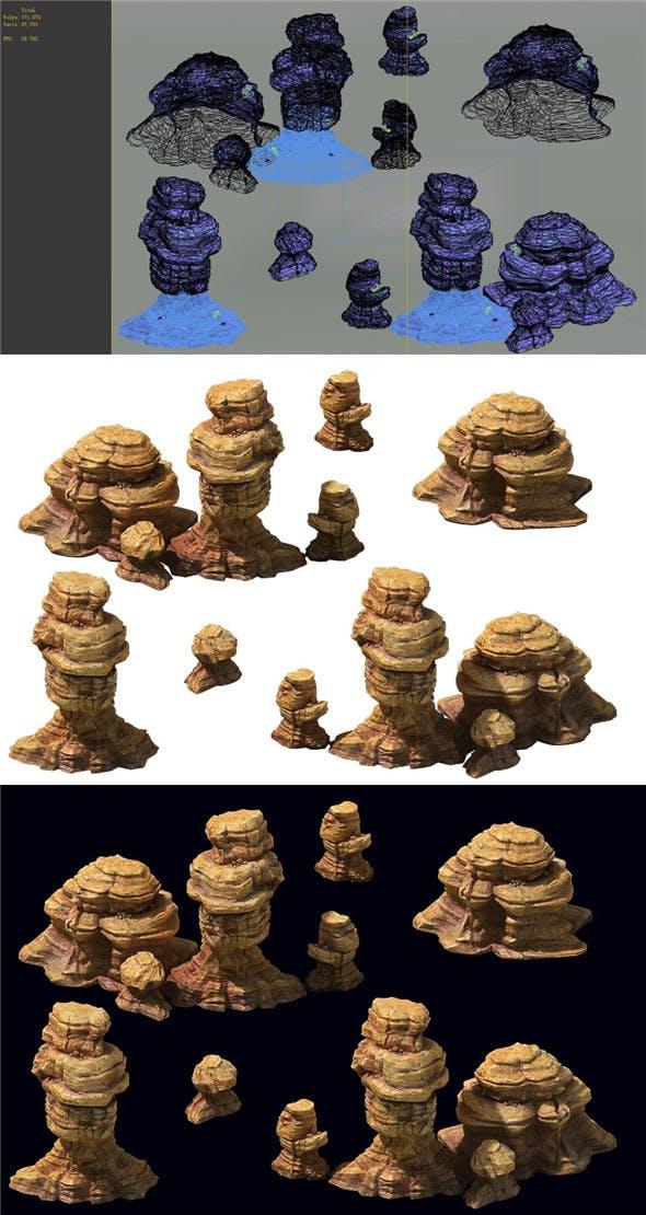 Game Model - Desert Gobi - Wind Stone 06 - 3DOcean Item for Sale