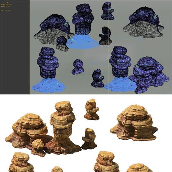 Game Model - Desert Gobi - Wind Stone 06