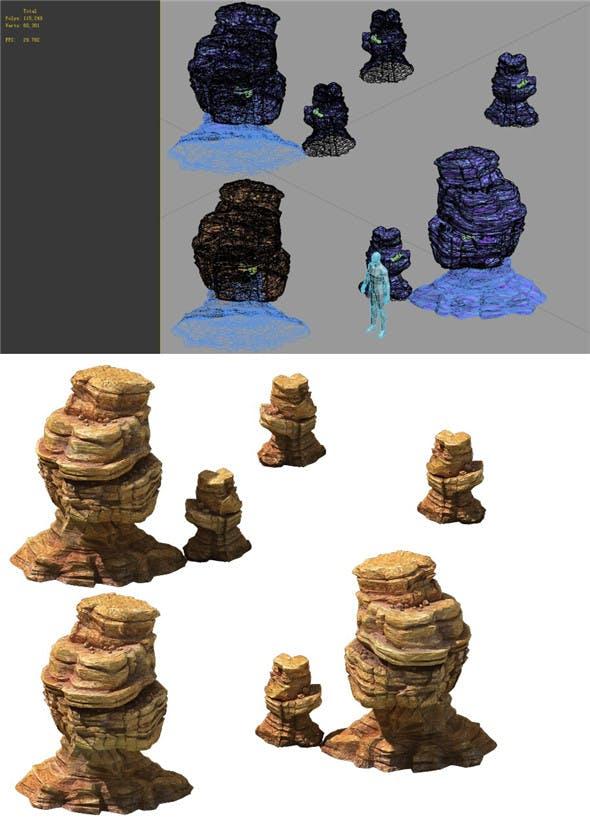 Game Model - Desert Gobi - Wind Stone 07 - 3DOcean Item for Sale