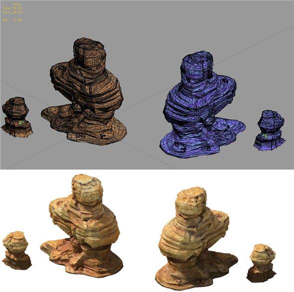 Game Model - Desert Gobi - Wind Stone 09 - 3DOcean Item for Sale