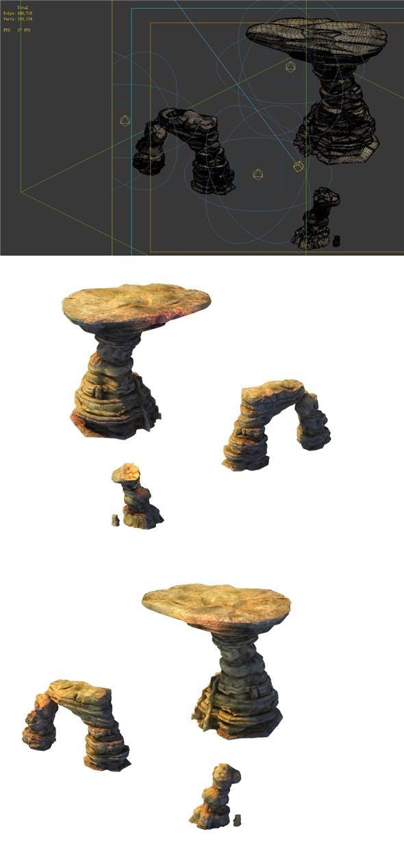 Game Model - Desert Gobi - Wind Stone 10 - 3DOcean Item for Sale