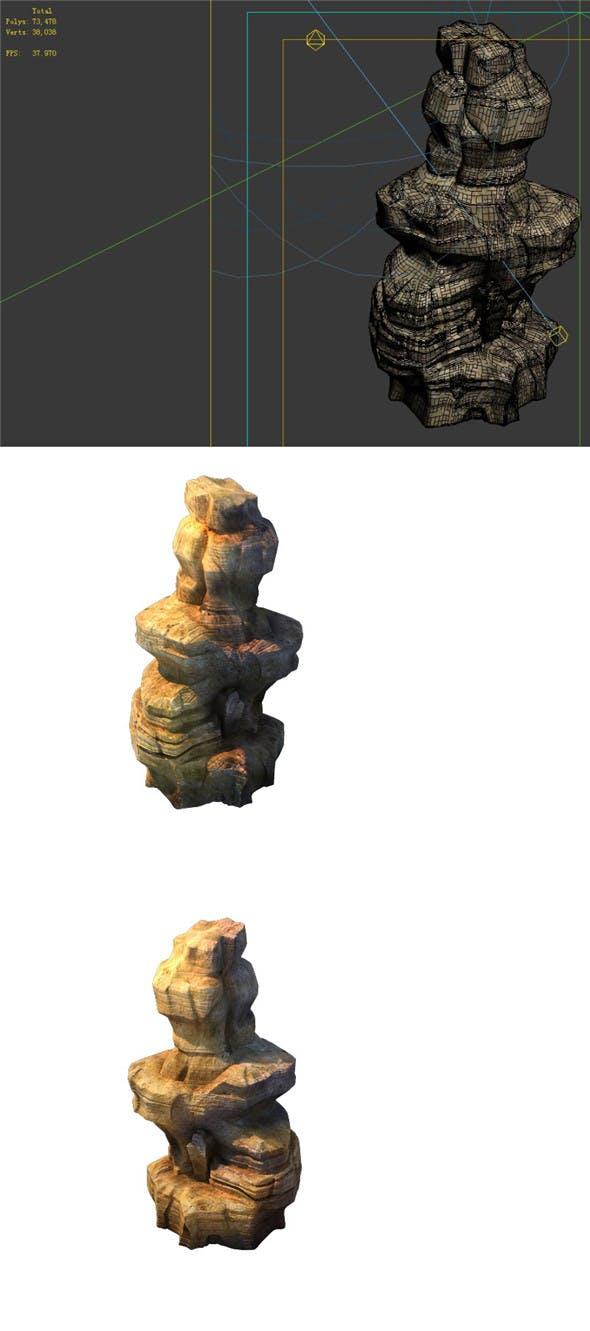 Game Model - Desert Gobi - Wind Stone 17 - 3DOcean Item for Sale