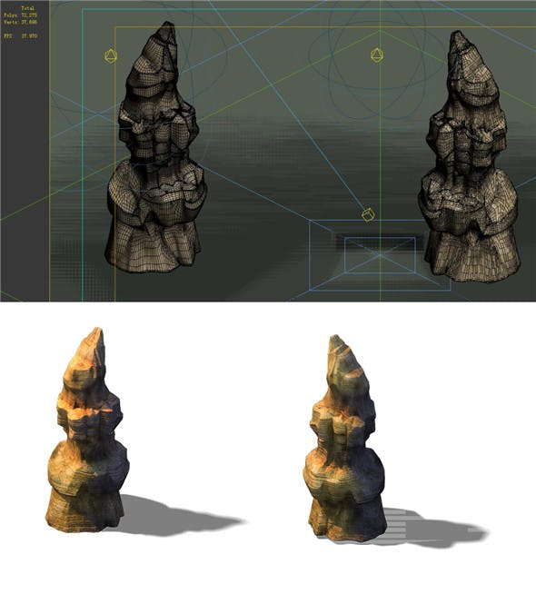 Game Model - Desert Gobi - Wind Stone 18 - 3DOcean Item for Sale
