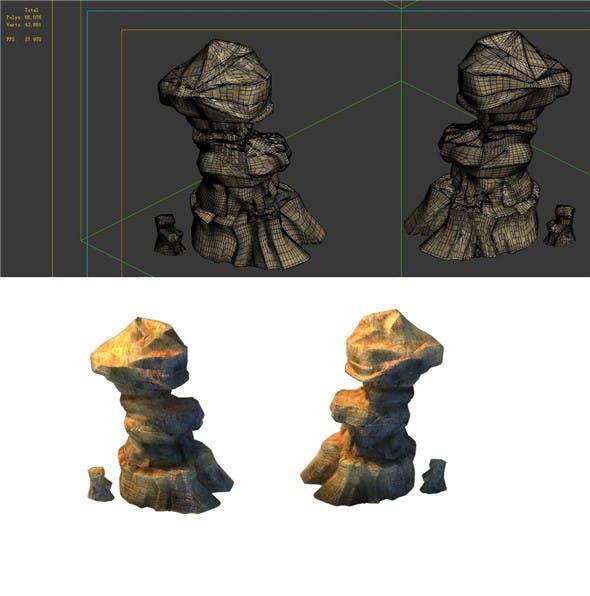 Game Model - Desert Gobi - Wind Stone 19 - 3DOcean Item for Sale