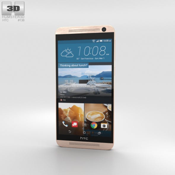 HTC One E9+ Classic Rose Gold - 3DOcean Item for Sale