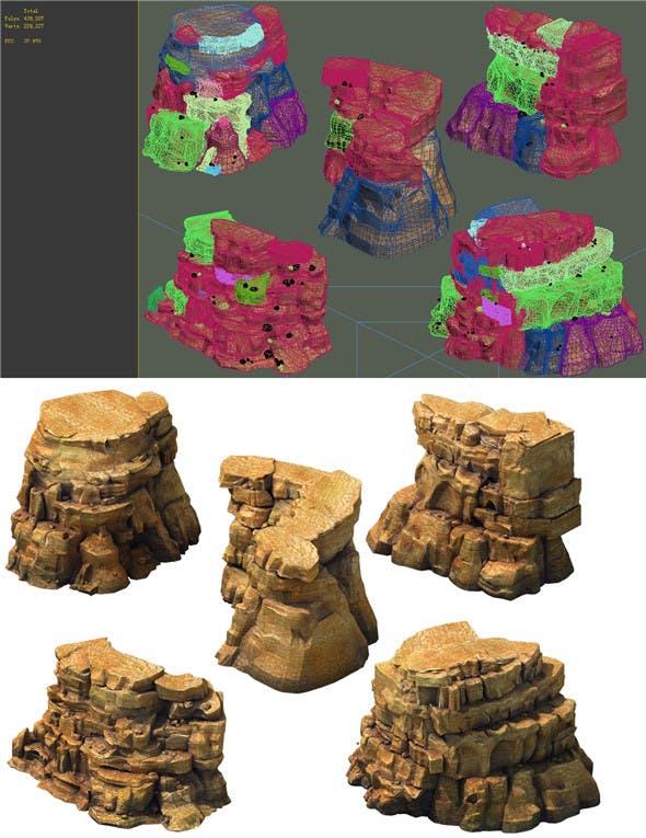 Game Model - Desert Gobi - Wind Stone 23 - 3DOcean Item for Sale