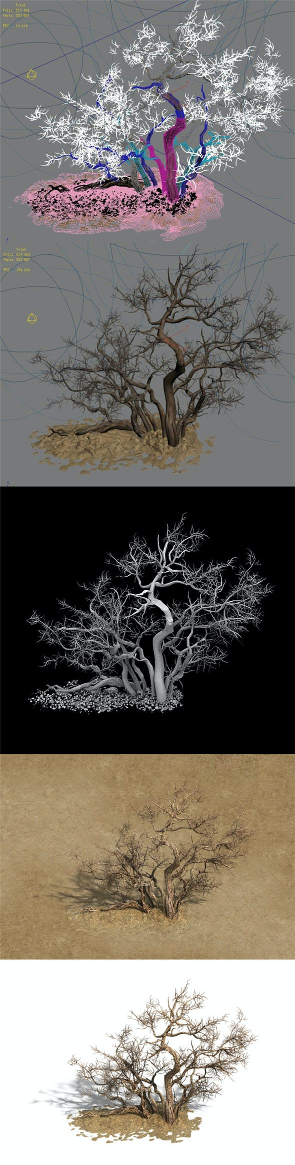 Desert Barracks - Dead Tree 04 - 3DOcean Item for Sale