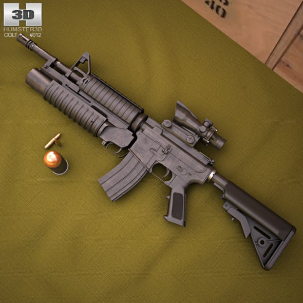 Colt M4A1 with M203 - 3DOcean Item for Sale