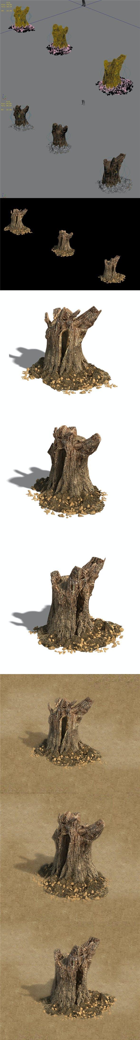 Desert - dead roots 03 - 3DOcean Item for Sale