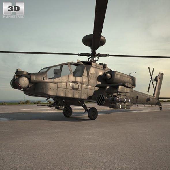 Boeing AH-64 D - 3DOcean Item for Sale
