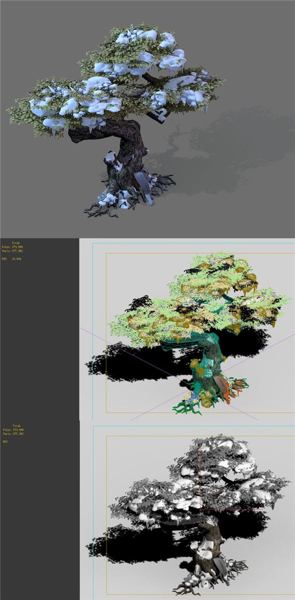Game Models - Snow - Trees 01 - 3DOcean Item for Sale