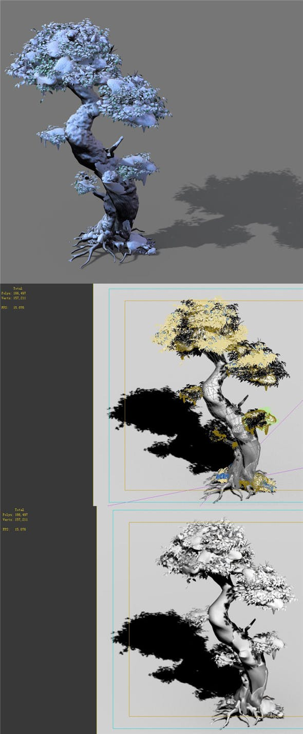 Game Models - Snow - Trees 02 - 3DOcean Item for Sale