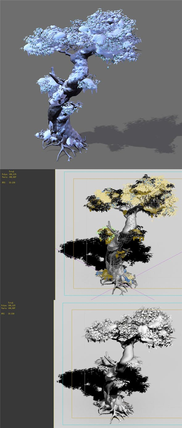Game Models - Snow - Trees 05 - 3DOcean Item for Sale