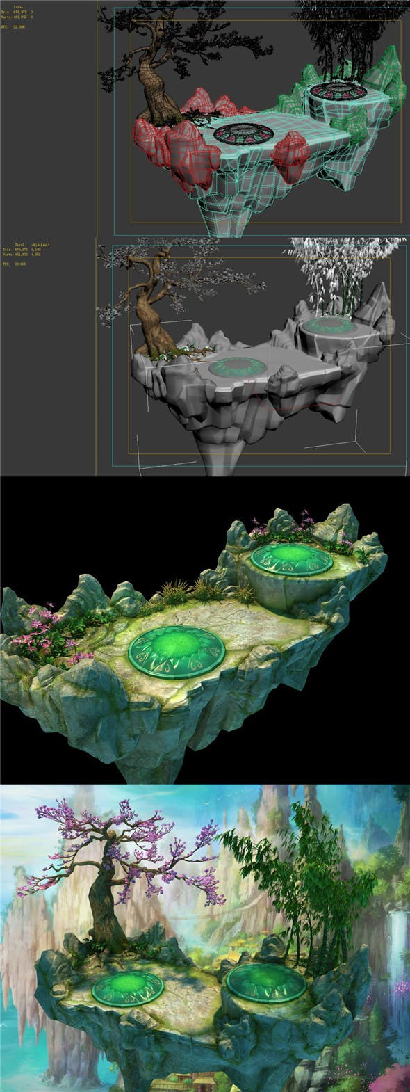 Game model - field - Alpine sightseeing platform - 3DOcean Item for Sale