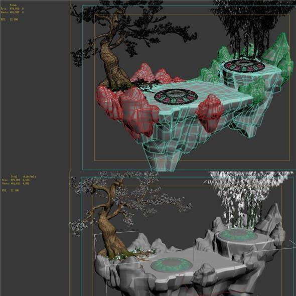 Game model - field - Alpine sightseeing platform