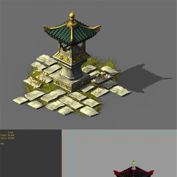 Game model - Garden - Stone lantern