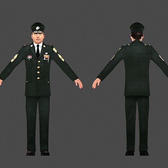 1960's US Army - Low Poly character