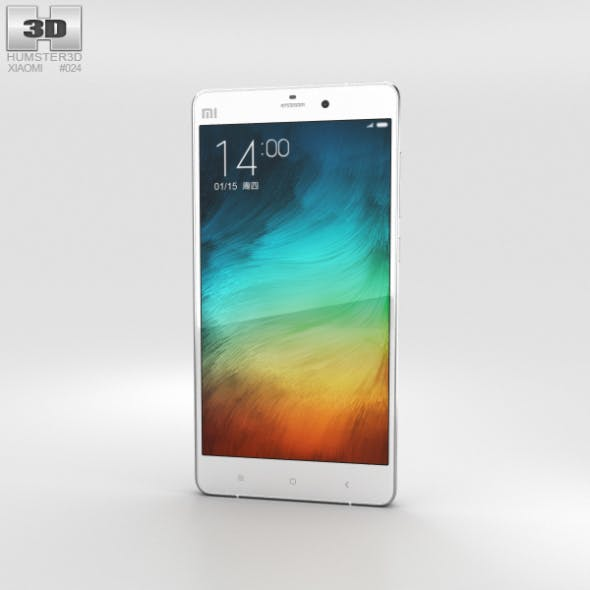 Xiaomi Mi Note Pro White - 3DOcean Item for Sale