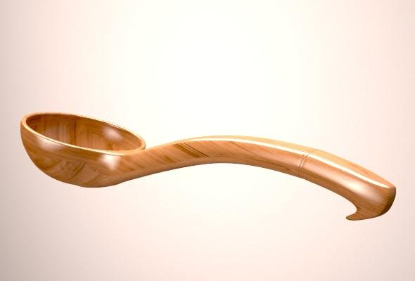 Wooden Ladle - 3DOcean Item for Sale