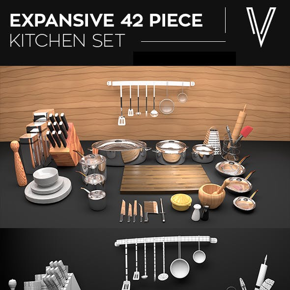 42 Piece Kitchen Set
